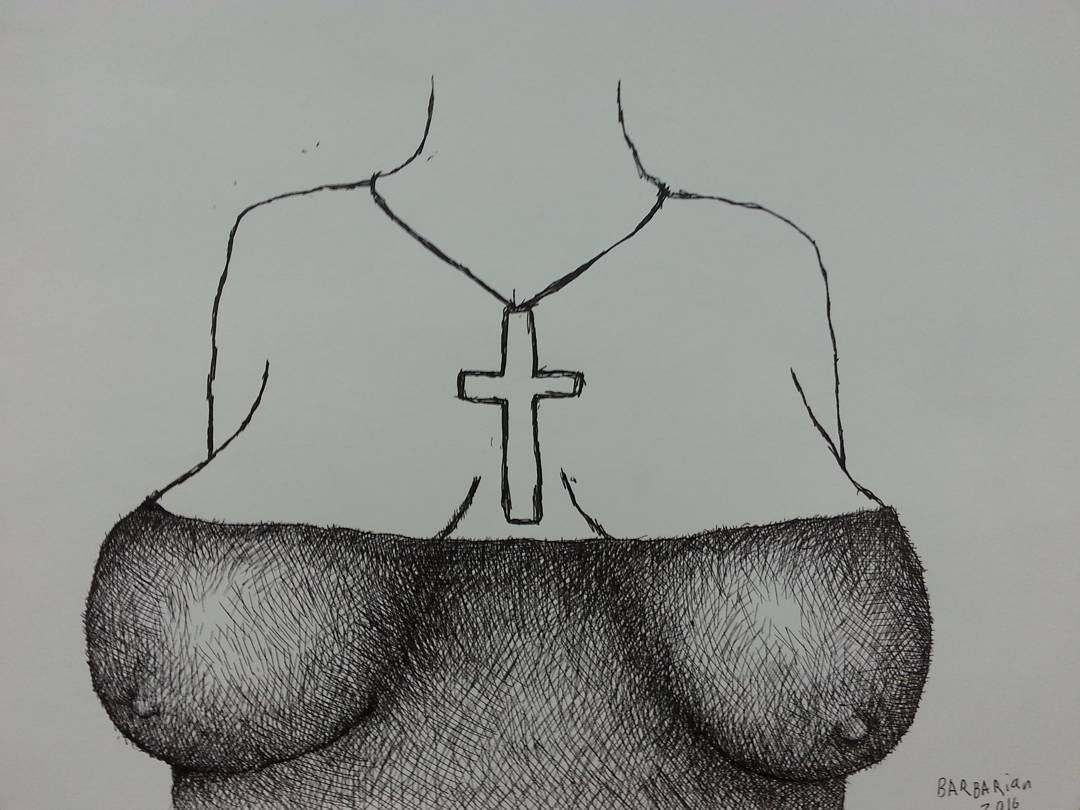 Hands to work tits to god