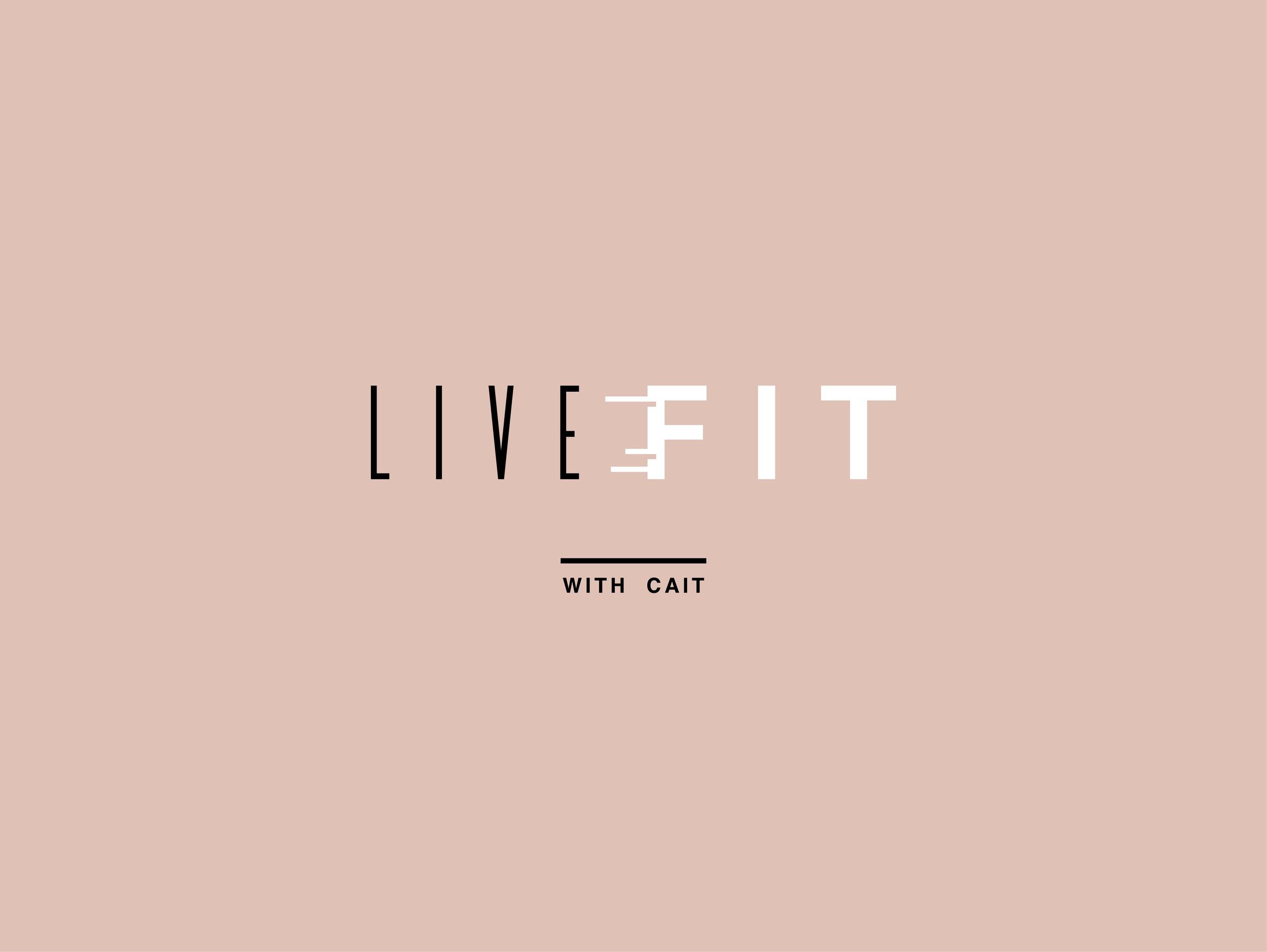 Live Fit with Cait - Logo Design