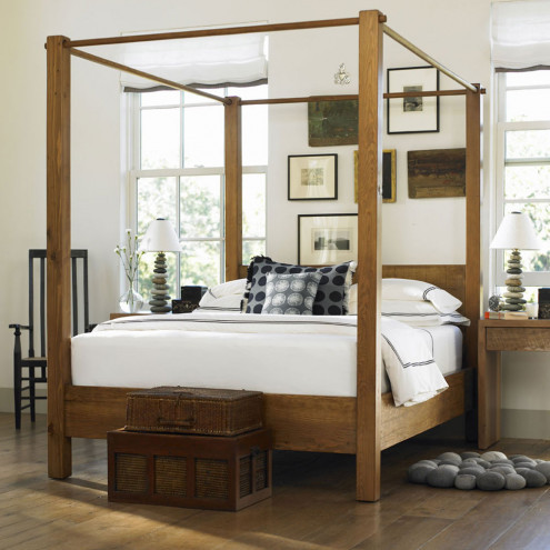 VivaTerra | Vintage Fir West Linn Canopy Bed