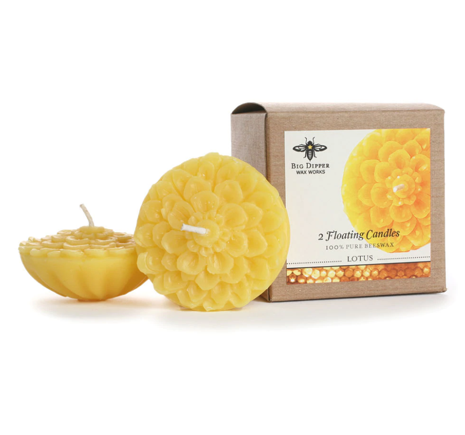 Floating Lotus Beeswax Candles