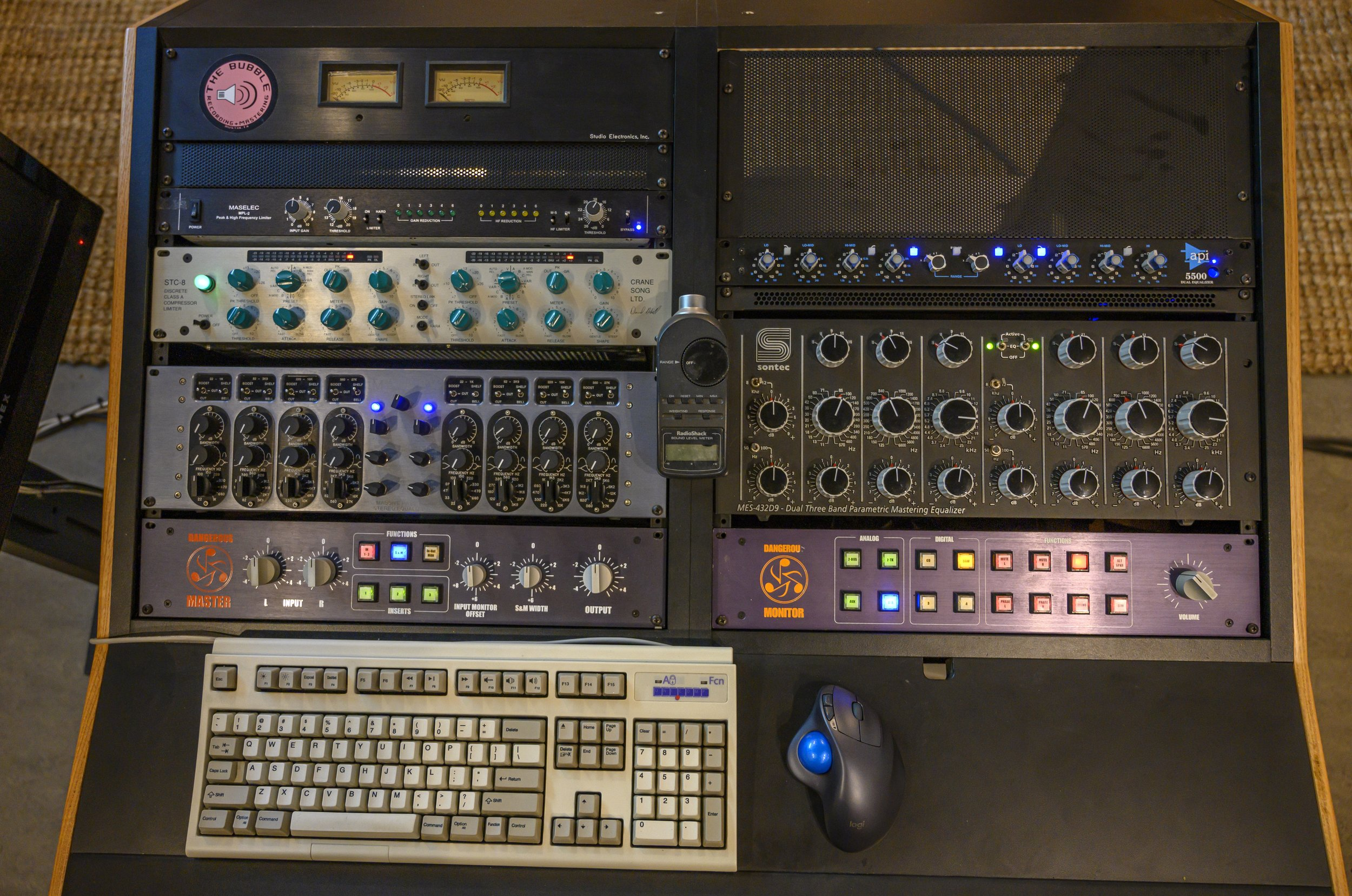 The mastering rig