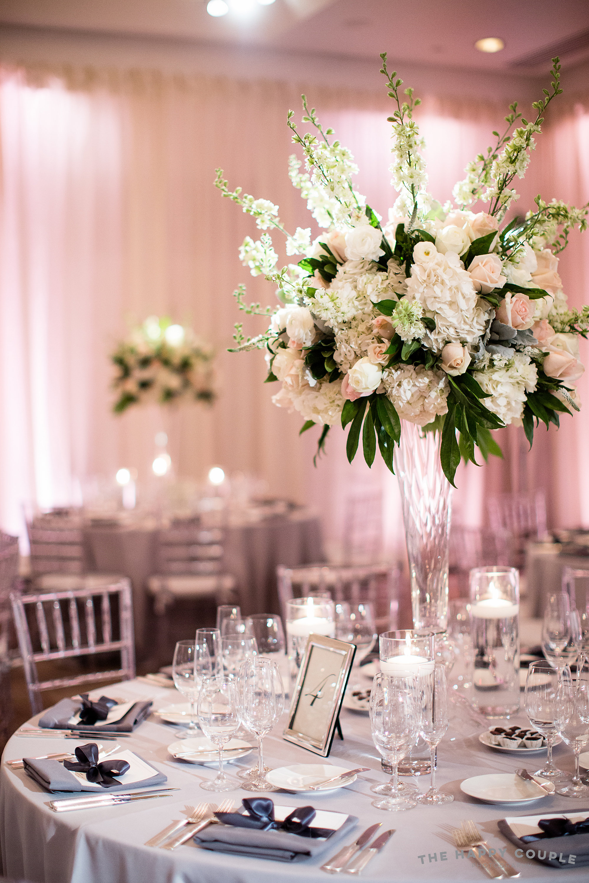 Tall centerpieces at the Park Hyatt DC by B Floral DC