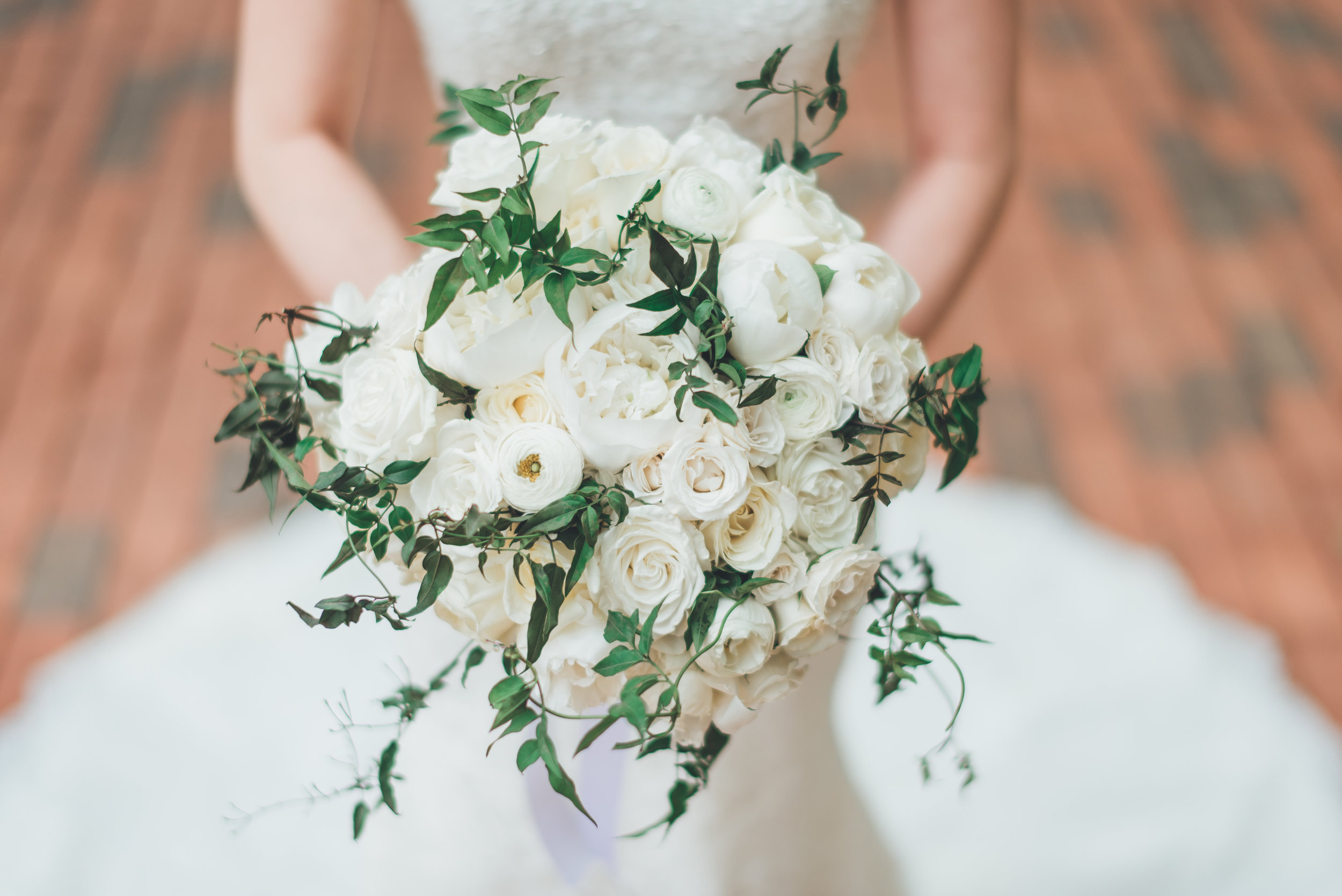 Gorgeous white bouquet by B Floral DC