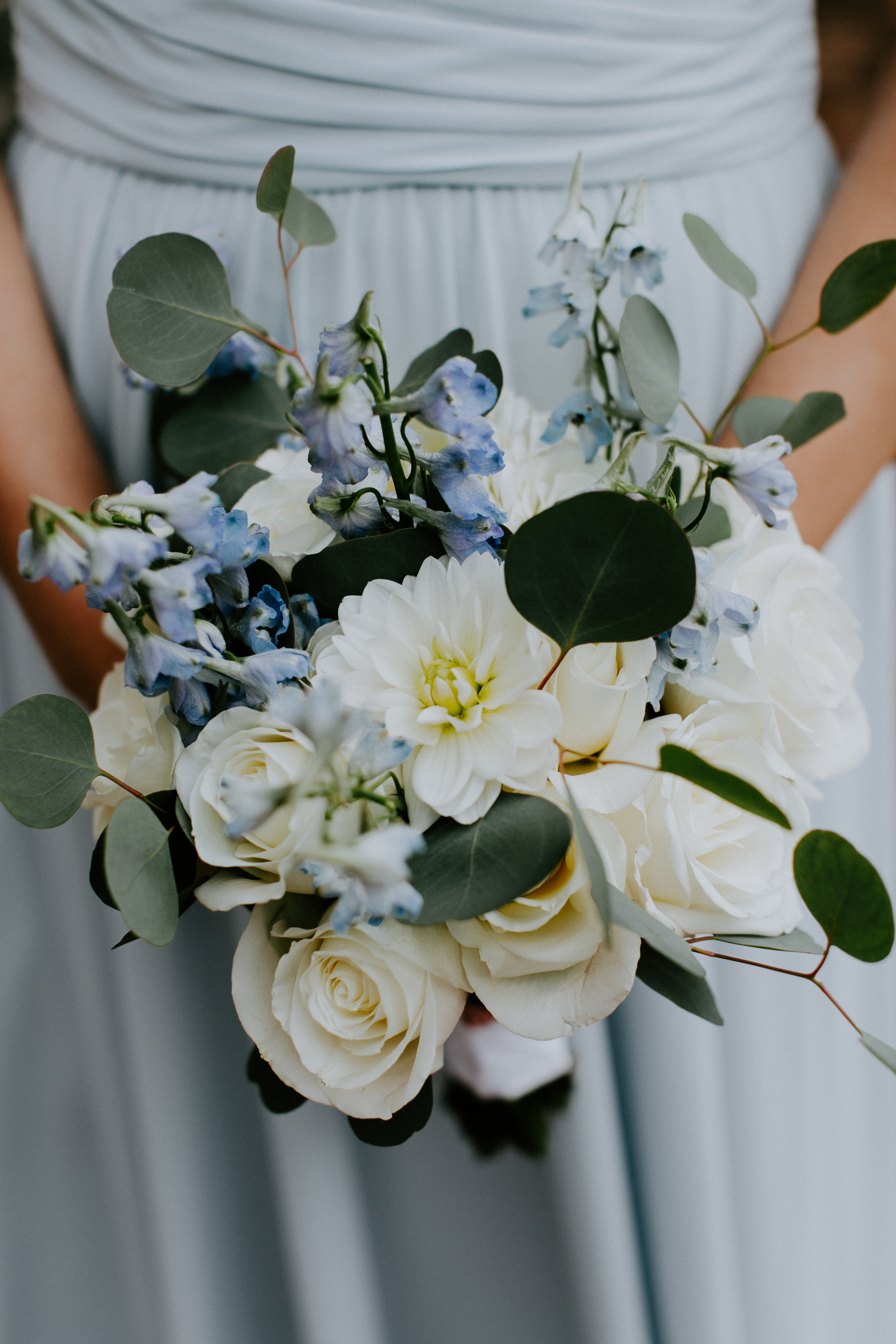 White and blue bouquet by B Floral DC