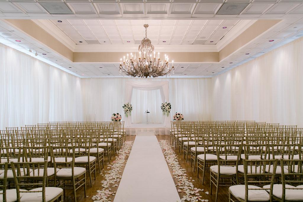 Elegant classic white chuppah by B Floral DC