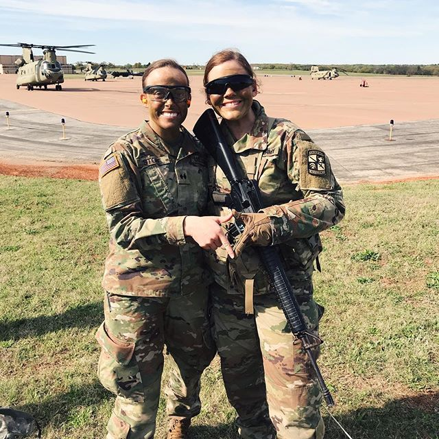 Happy Friday! Last weekend, our amazing Army ROTC members, Annie Ryan and Maddie Stone worked with a CH-47 at their Spring Training Exercise. We are so proud of them for all the hard work they do and how they represent OU and KAΘ in such an awesome way!