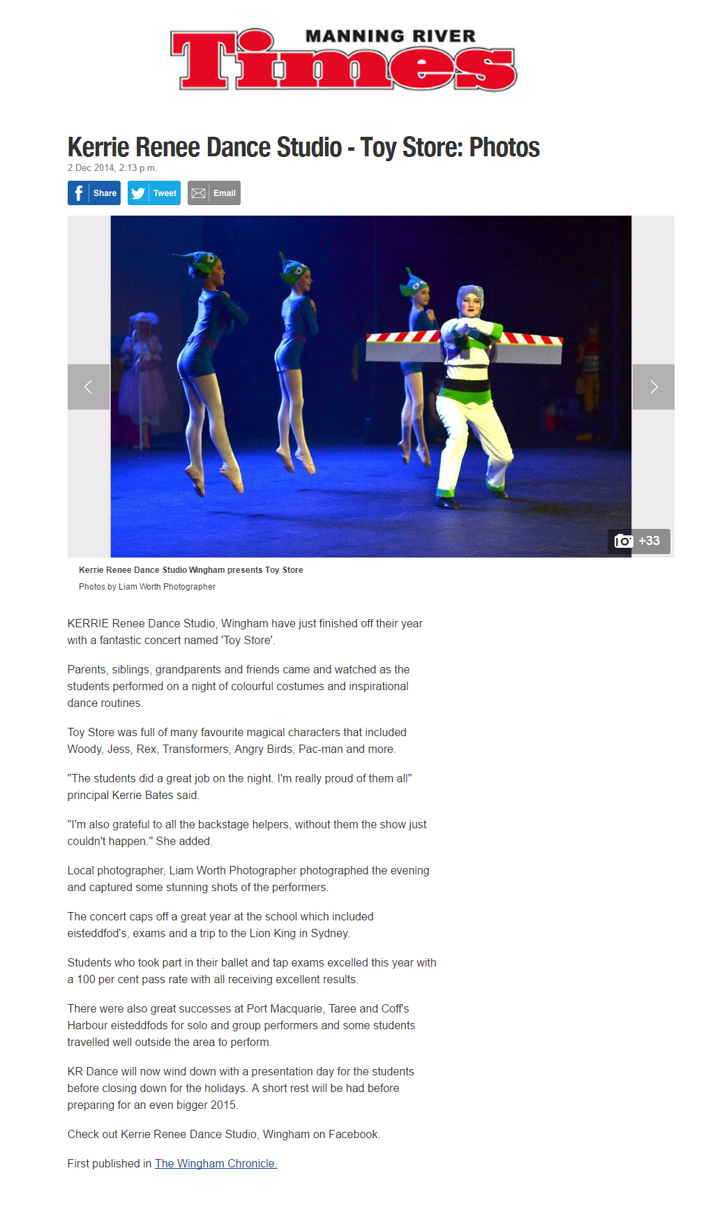 2014 Kerrie Renee Dance Studio -