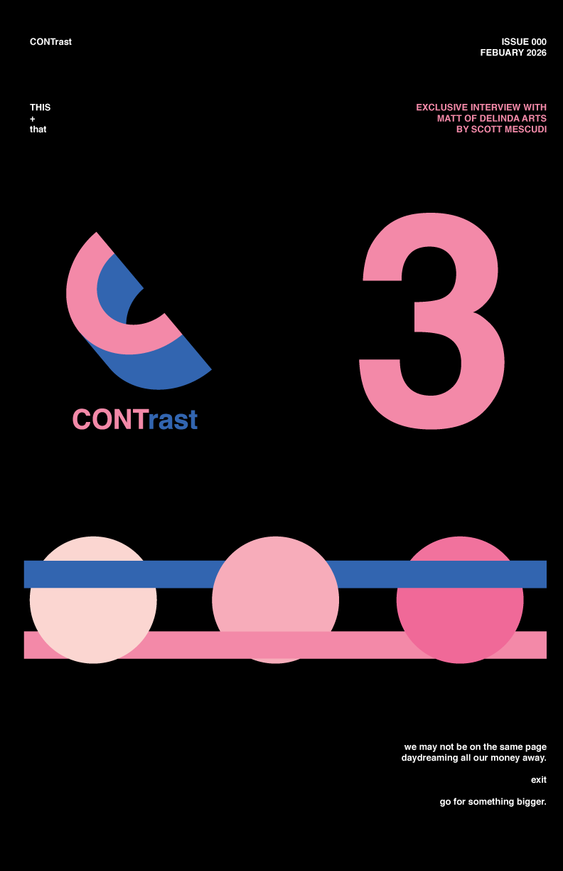 CONTrast PRINT concept  FEB. ISSUE #000