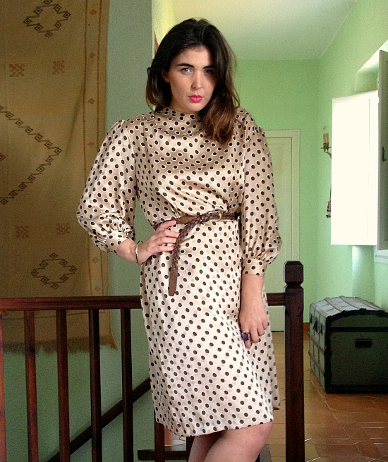 vintage clothes 70s polkadot dress 937y iughfw iueghw 9743.jpg