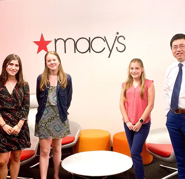 Our former president @kjkeough and professor @shenglu27 along with synergy member Lora Merryman got to meet with the sourcing team at Macy's to learn about retailers are using big data and leveraging sourcing advantages and tariffs in today's evolving retail industry! We're so happy they got this amazing opportunity! #fashionstudent #designstudent #studentdesigner #summerintern #summerinternship #designintern #udel #udelfash #qvc #qvcintern #ipreview via @preview.app