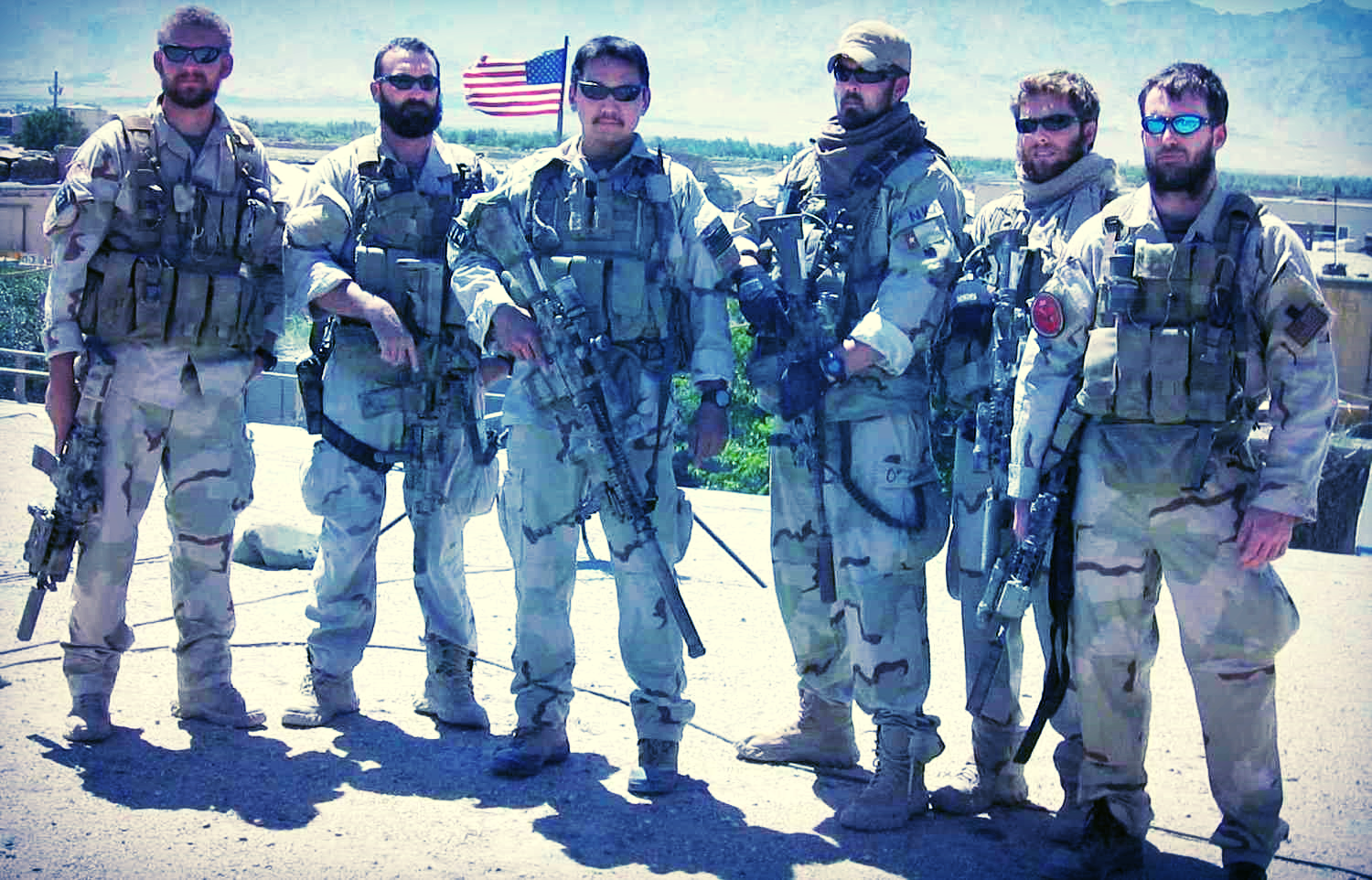 Marcus Luttrell, 3rd from the right