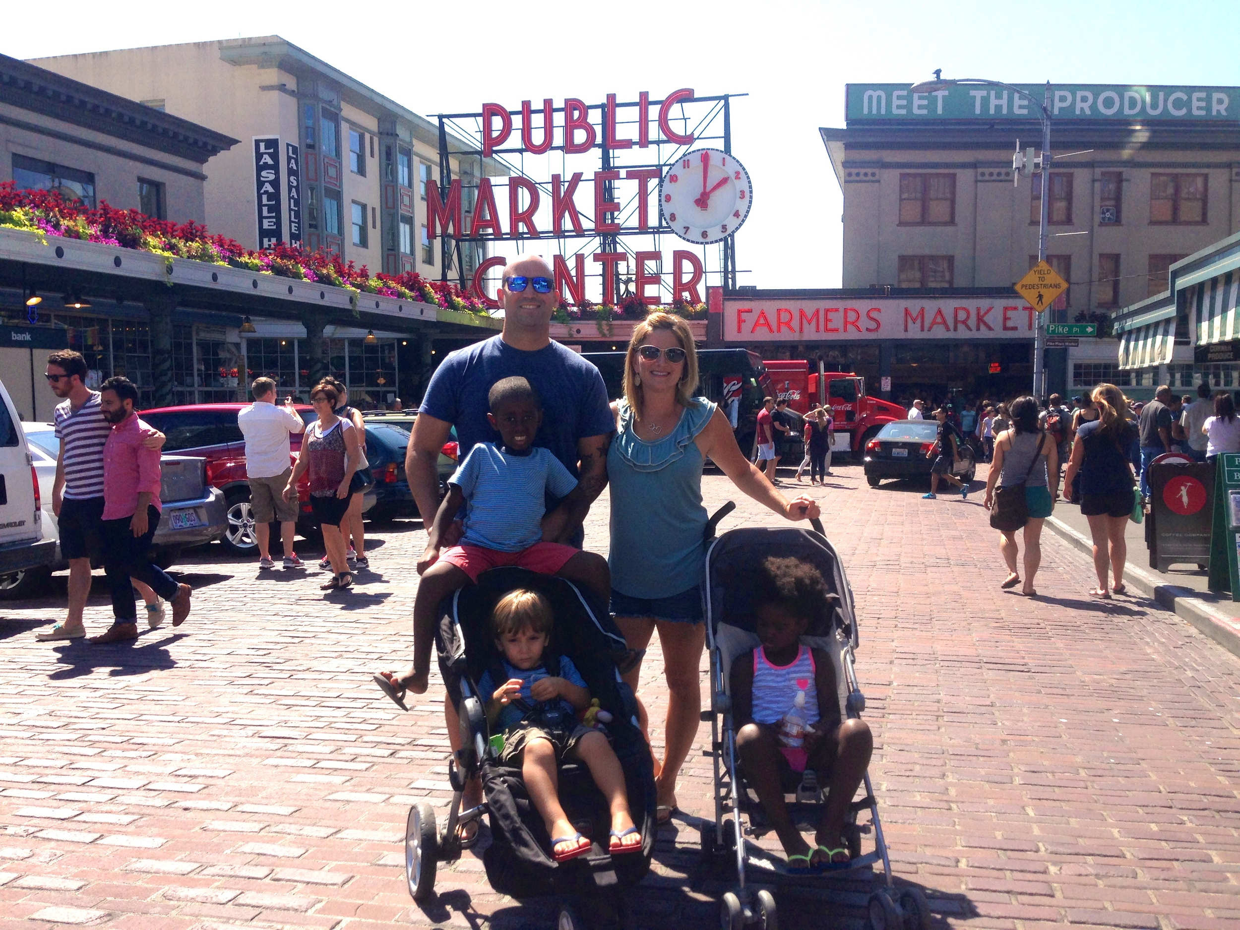 Summer to Remember at Pike's Place in Seattle. Love you Neah & Tai!