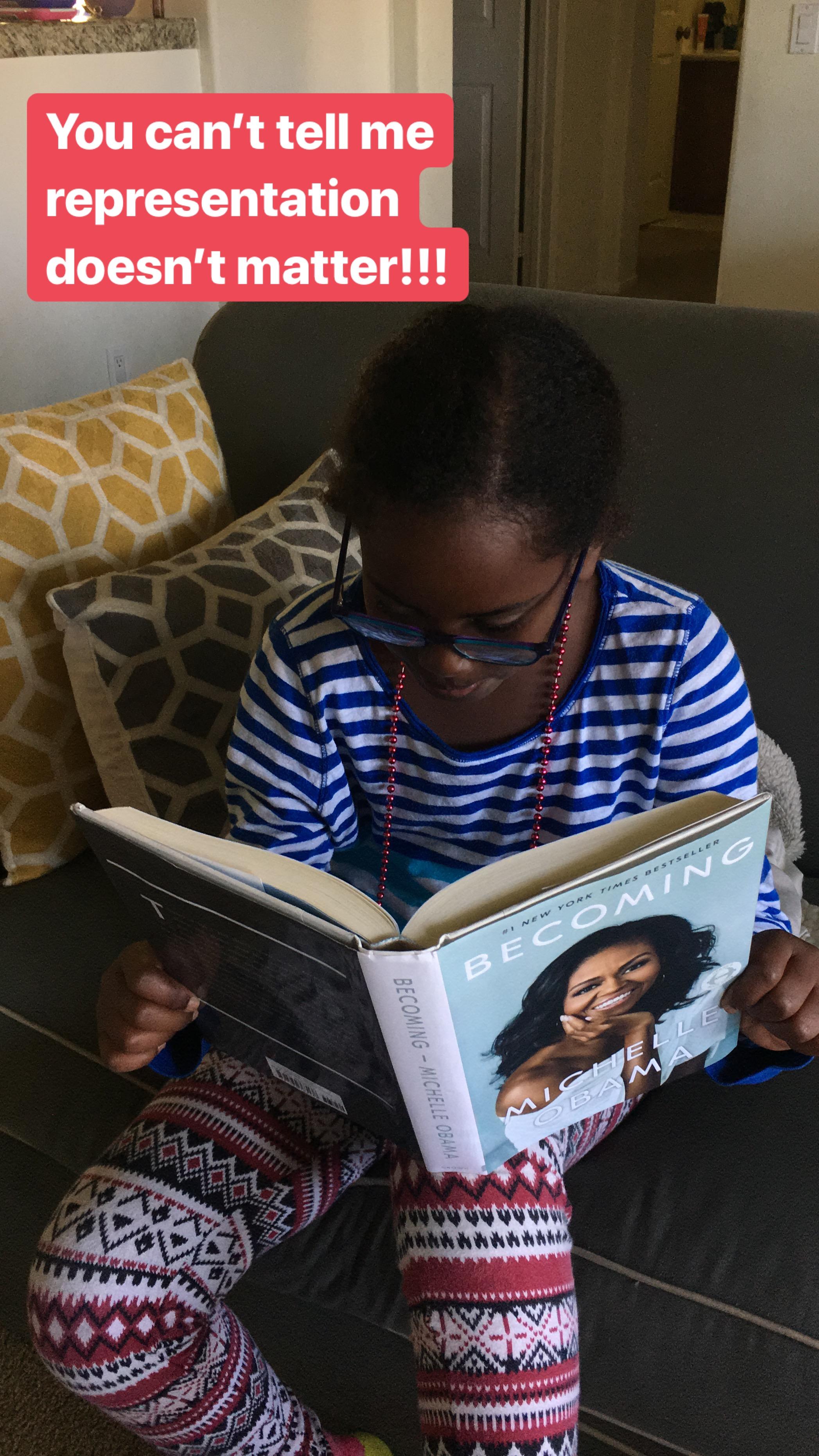 Michelle Obama + My Daughter