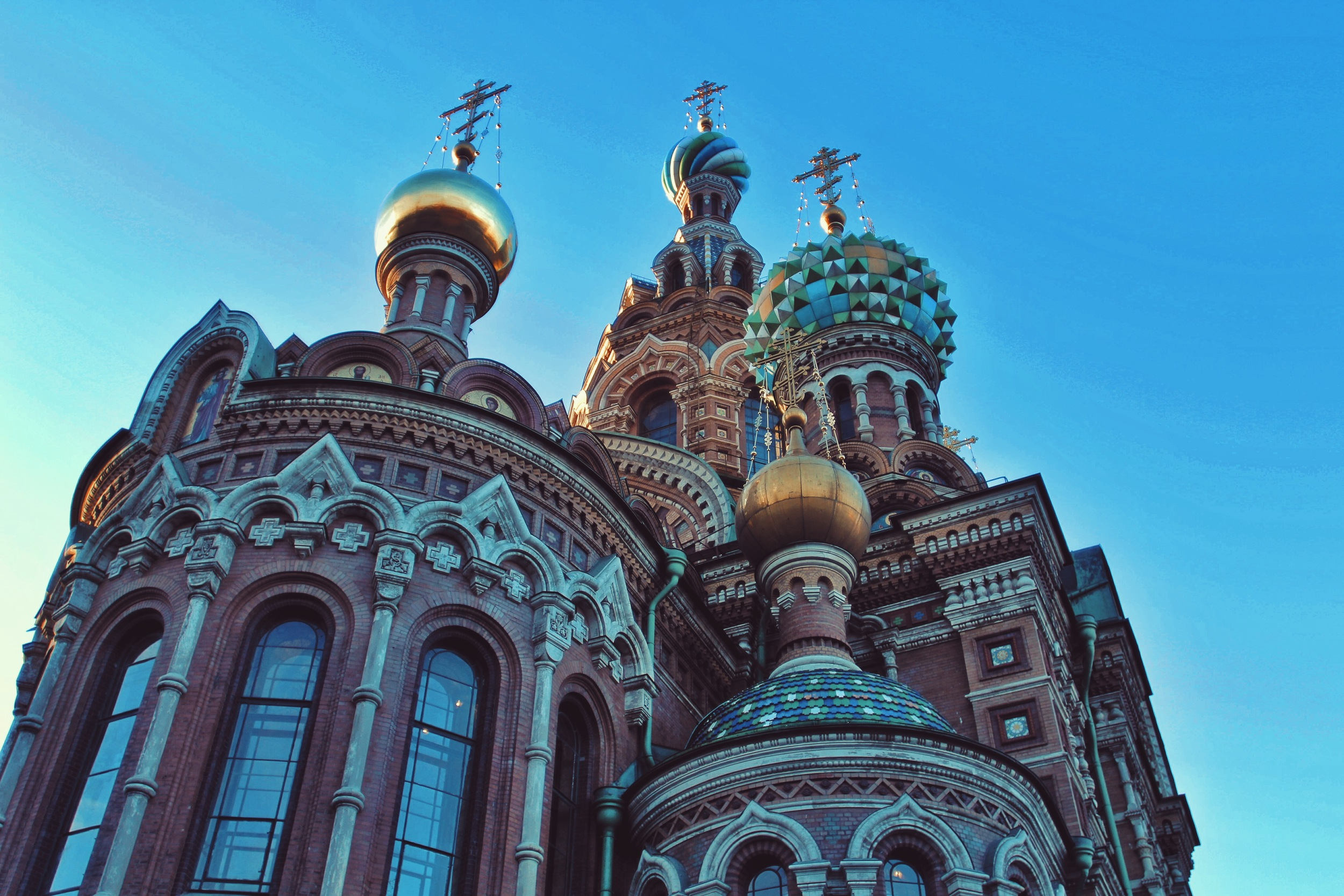 Architecture shot of a cathedral from travels in Russia