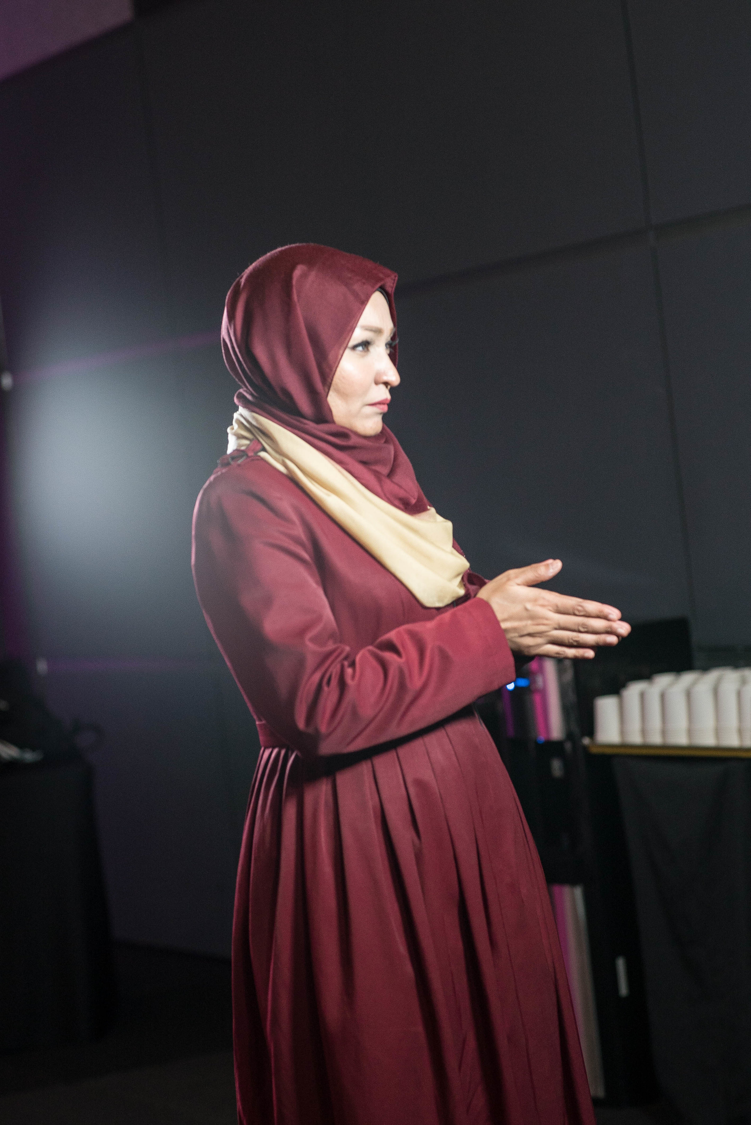 Suria Sparks mid-interview