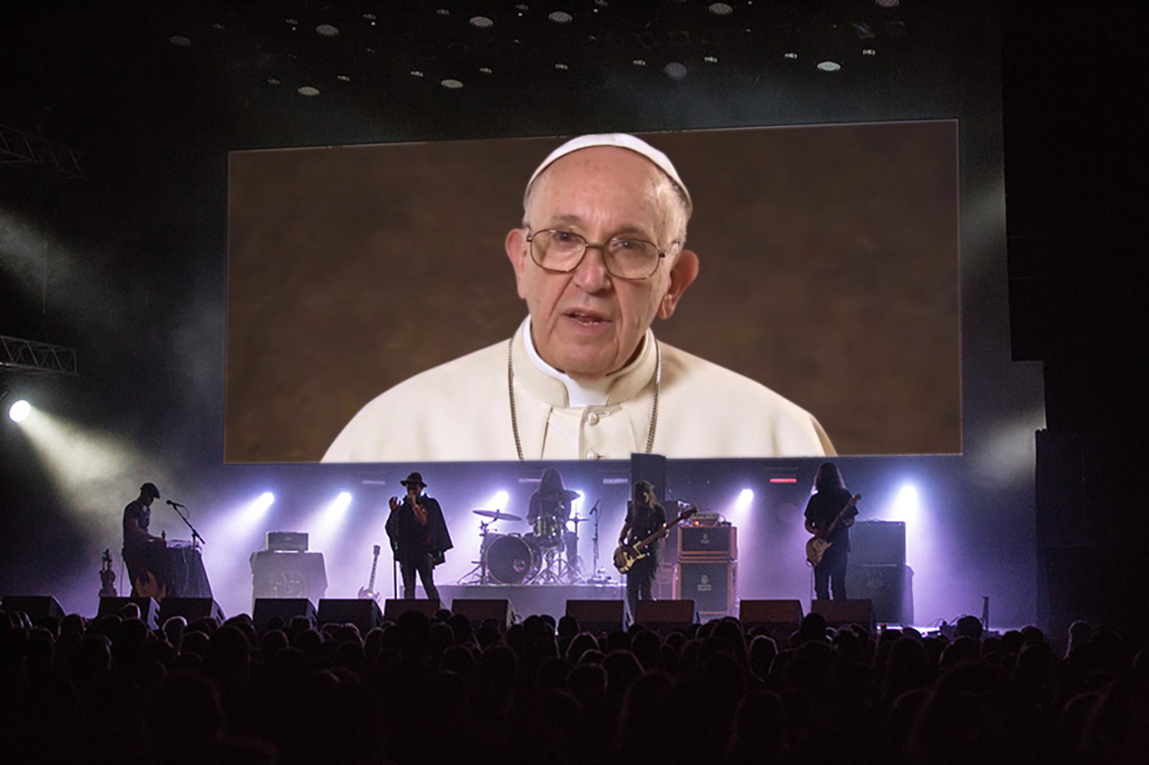 Skype Blessings - If Pope Francis couldn't be there in person, we'd ask him to bless the block party via live stream, making it the first-ever papally blessed music festival.