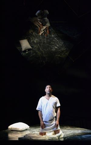 Benjamin Taylor (BU CFA '16) in Angels in America (opera) at Boston University College of Fine Arts. Photo by Oshin Gregorian.