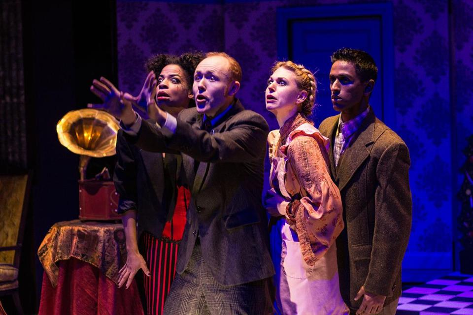 Alexandria King, Brooks Reeves, Lisa Dempsey, and Jake Athyal in Shockheaded Peter . Photo by Paul Fox.