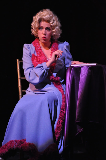 Miss Adelaide (Lori L'Italien) plans how to win a wedding proposal from Nathan Detroit in Reagle Music Theatre of Greater Boston's  Guys and Dolls  (Photo Credit:   Herb Philpott  ).