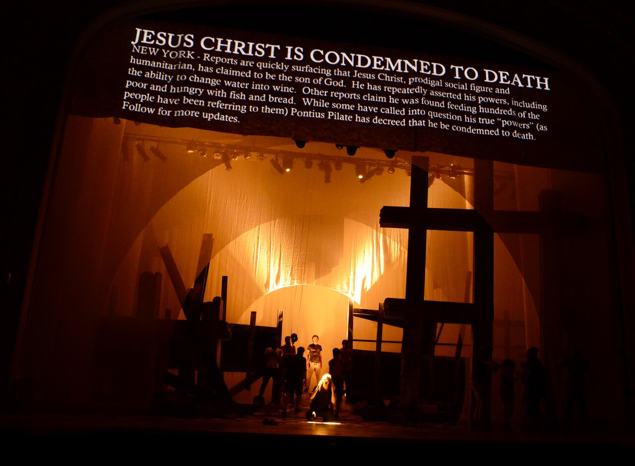 Fiddlehead Theatre Company's  Jesus Christ Superstar  (photo Credit:   Matt McKee  ).