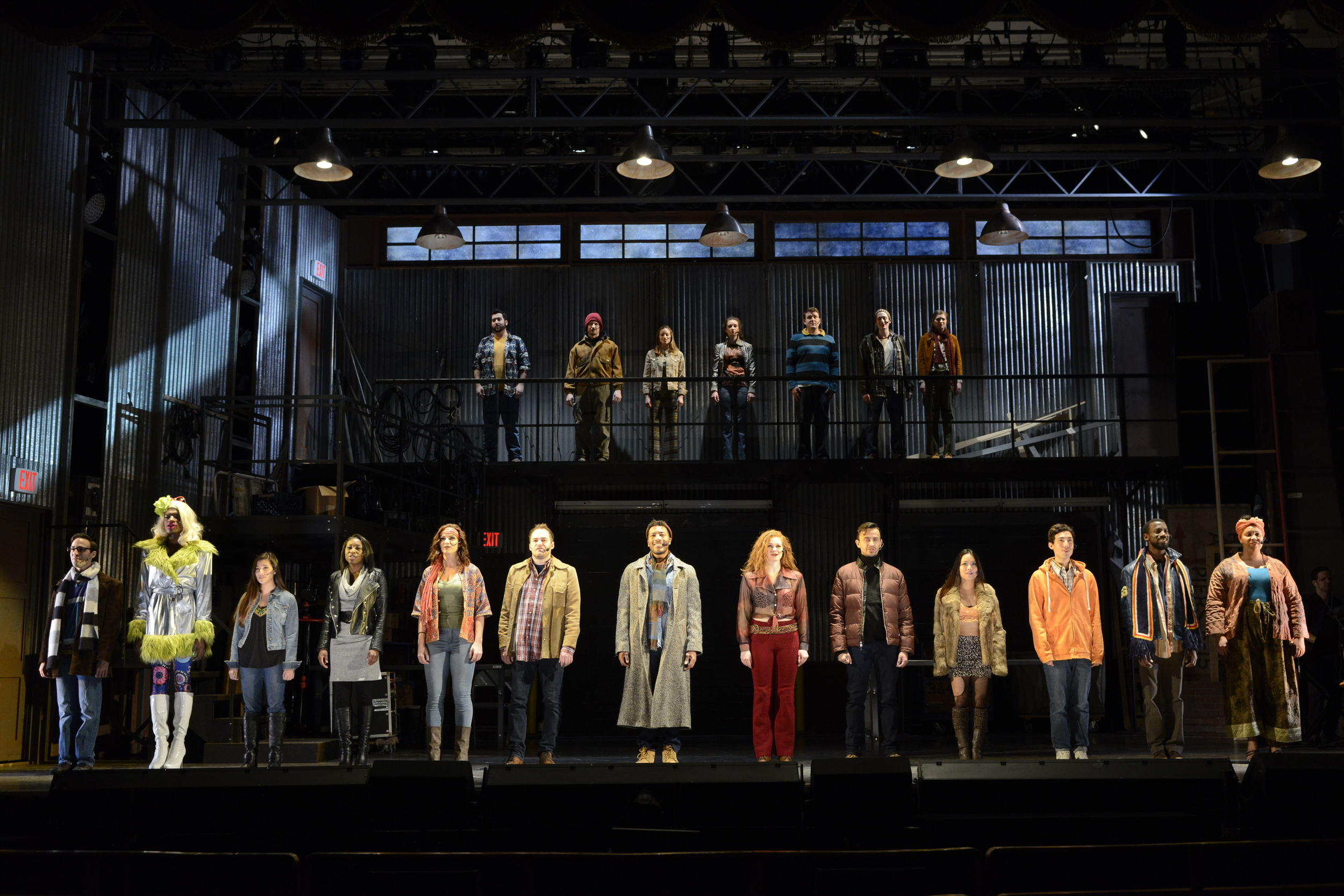 The cast of Fiddlehead Theatre Company's  Rent (Photo Credit: Fiddlehead Theatre Company/Eric Antoniou).