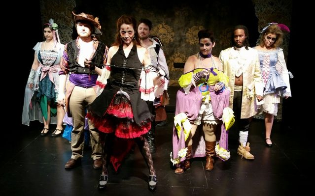 The cast of WholeTone Opera's  La Zombiata  (Photo Credit: Freya Grunden).