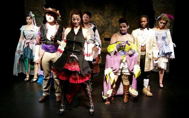 The cast of WholeTone Opera's  La Zombiata (Photo Credit: Freya Grunden).