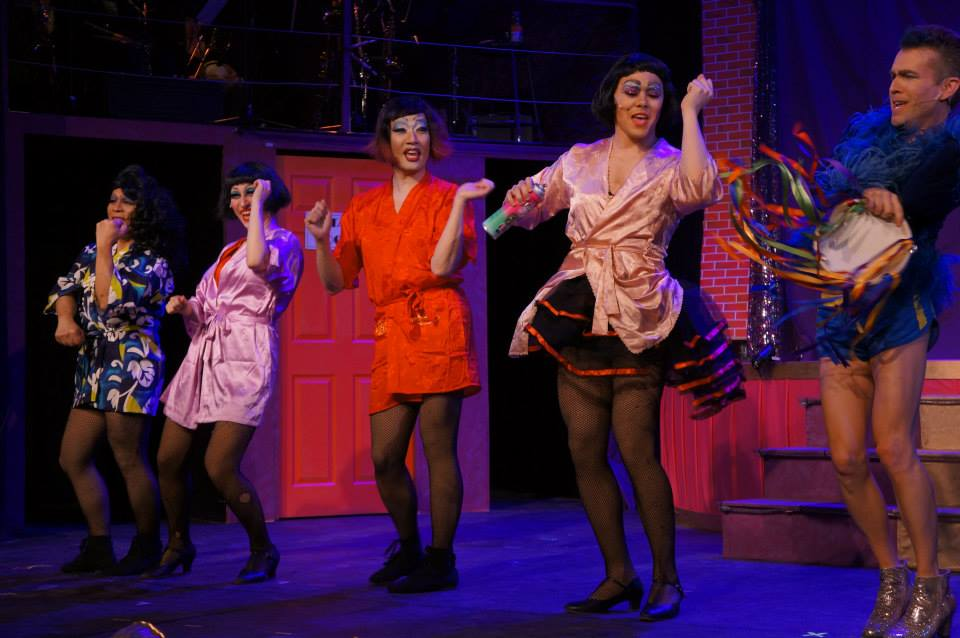 Some of the Cagelles in The Umbrella's  La Cage Aux Folles  (Photo Credit:   Al Ragone  ).
