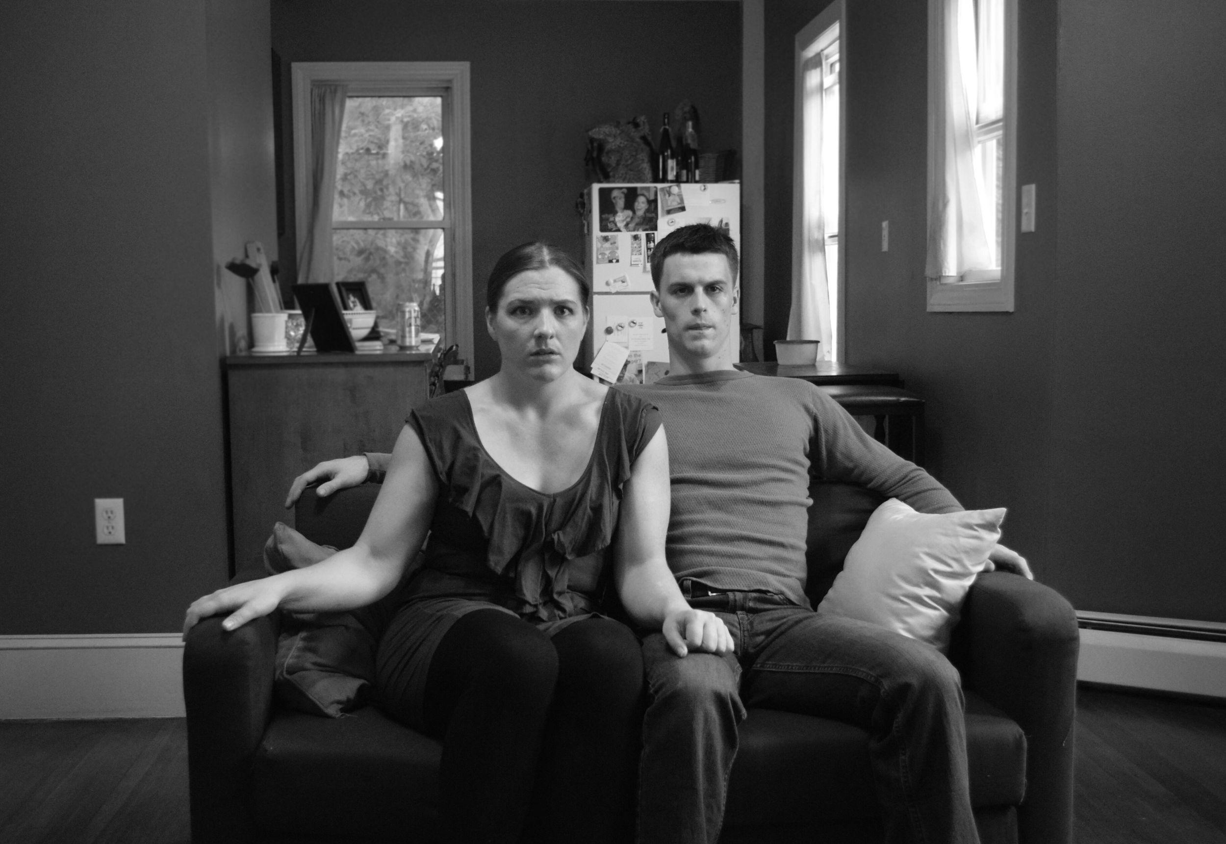 Kelly (Kiki Samko) and Craig (Michael Underhill) in  Happy Medium Theatre 's   Dying City  (Photo Credit:  Josephine Anes ).