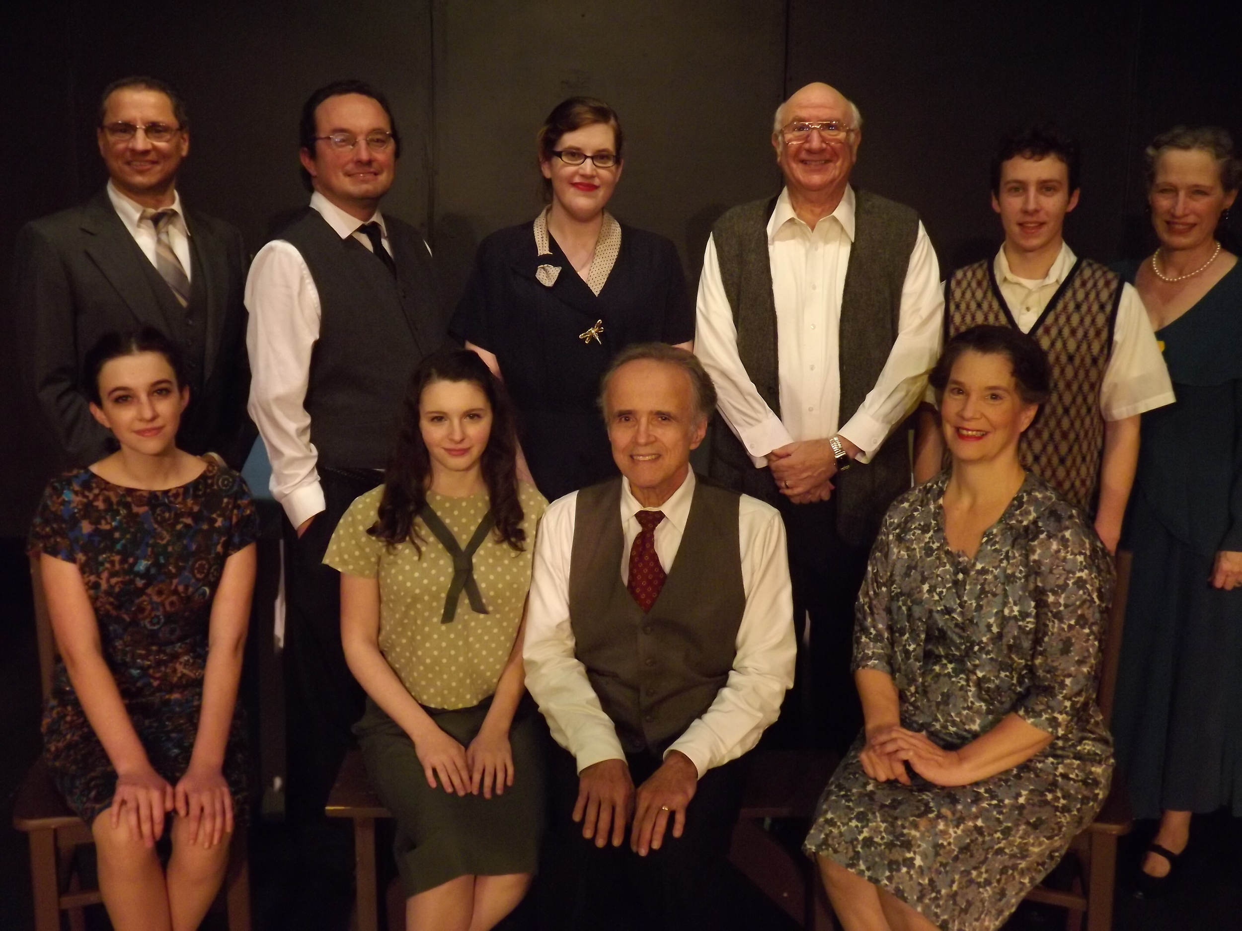 The cast of Theatre To Go's  The Diary of Anne Frank  (Photo Credit: Michael Molineaux).