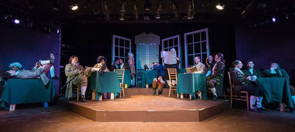 The full stage for  MIT Gilbert & Sullivan Players '  1776  (Photo Credit:  eurah joanna ko ).