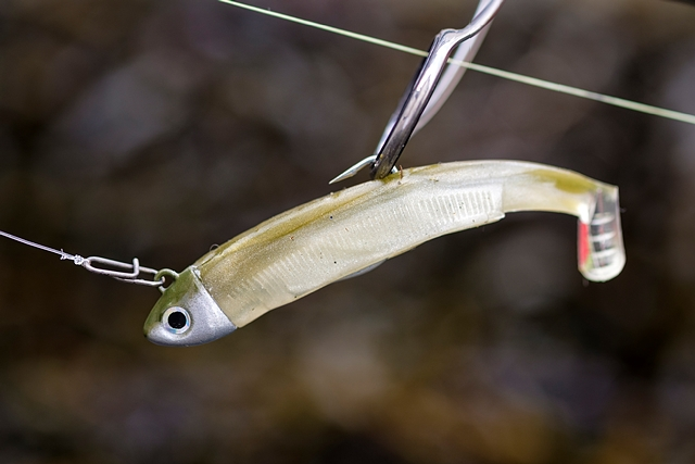90mm Black Minnow with the new 8g Search head