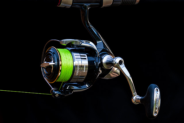 Shimano Vanquish C3000 (pre-2016 model, discontinued) - Many anglers would argue that a reel like this is overkill for lure fishing in the UK and Ireland, but considering that it's a free world I would rather let people make up their own minds – flat out this is one of if not the most impressive spinning reels that I have ever been lucky enough to have fished with. Does not come with a spare spool.