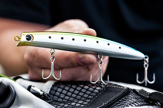 IMA Komomo SF-145 - This is a pretty substantial shallow diving hard lure - the IMA Komomo SF-145 (145mm, 26g, 20-50cm swimming depth) casts pretty well and it's also nice and stable in some lively conditions. You know the sort of action you're getting with this Komomo SF family of IMA lures, and I love it. I catch bass on these lures and I can't ask for much more than that.Affiliate links (my sincere thanks if you choose to buy via these): Ebay