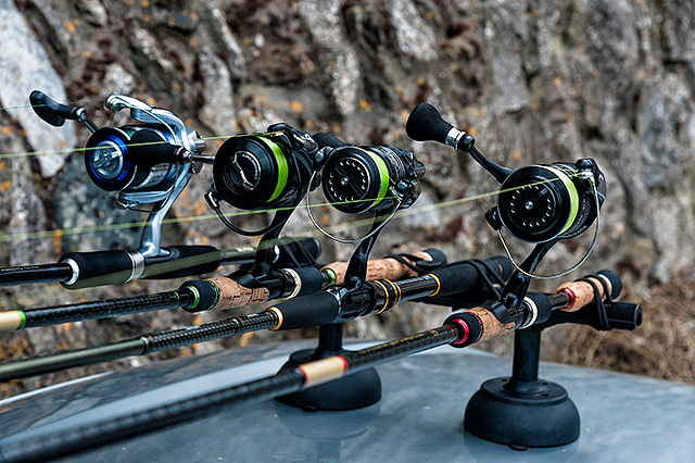 """Vac-Rac fishing rod holders for the car - When I go to Ireland I have one of their """"Professional Locking Racks"""" that holds four lure rods and reels easily and securely at any kind of speed you might drive. When I am at home I have a Vac-Rac """"Combi Rack"""" that is magnetic and I simply put it on and take it off my car as and when it's needed. See my review here.Available here (Ebay link)."""