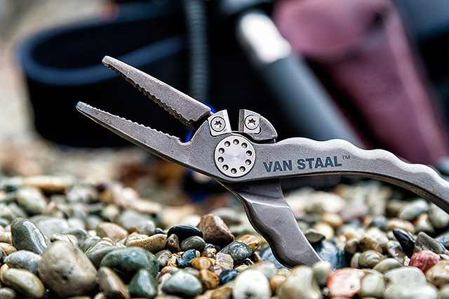 Van Staal titanium pliers - Yes, it's no joke how expensive these things are, and yes, I accept completely that spending this much on a pair of fishing pliers is alien to most anglers - but there is no getting away from how good these Van Staal titanium pliers are, as in they just don't rust. The cutters cut all kinds of braid and fluoro for me as well.Available here (Ebay link).
