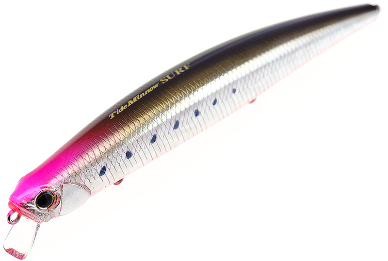 DUO Tide Minnow 135 Surf - Long casting and very stable in rougher conditions, the DUO Tide Minnow 135 Surf (135mm, 24g) does what it says in the tin. You can get this chunky hard lure swimming pretty shallow if needs be.Affiliate links (my sincere thanks if you choose to buy via these): Chesil Bait'n'Tackle, Ebay