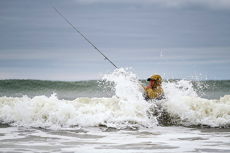 """You and your gear are going to get a hammering if you fish """"proper"""" surf conditions"""