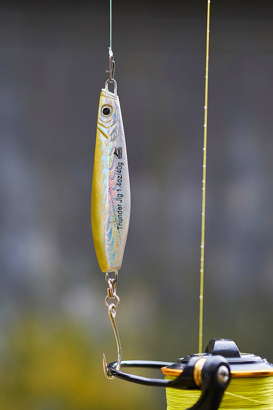 Williamson 40g Thunder Jig rigged with a VMC single hook