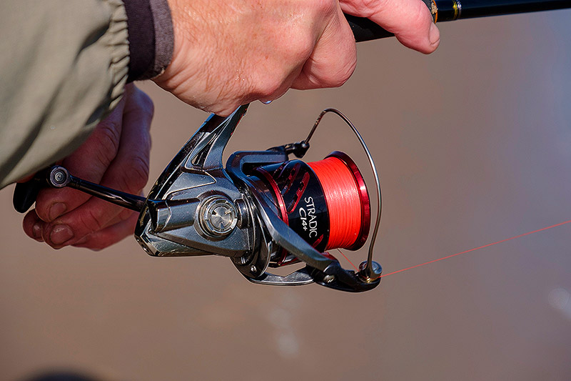 This Spiderwire Smooth Stealth 8 braid has been on this reel for two years I believe, and the guy fishes hard