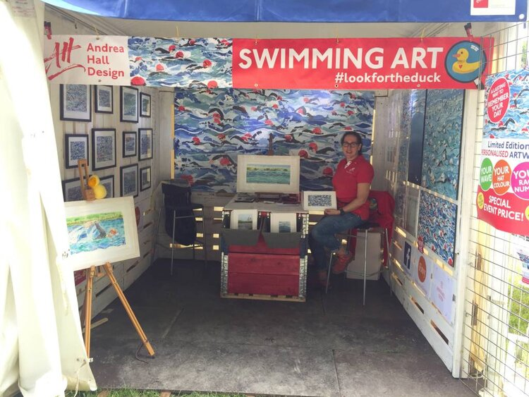 My stand at the Great North Swim