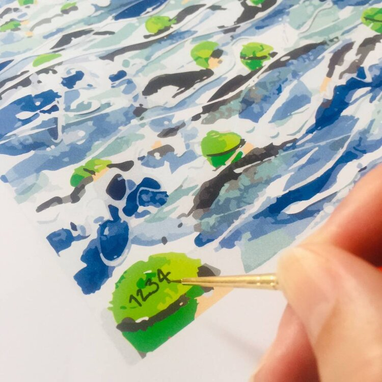 Personalising the limited edition prints