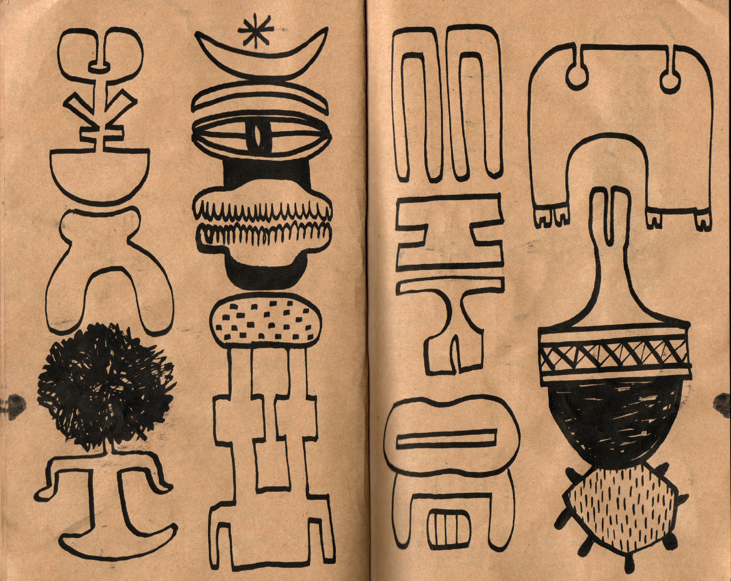 01_Elvira Golombosi_sketchbook_drawings_brown