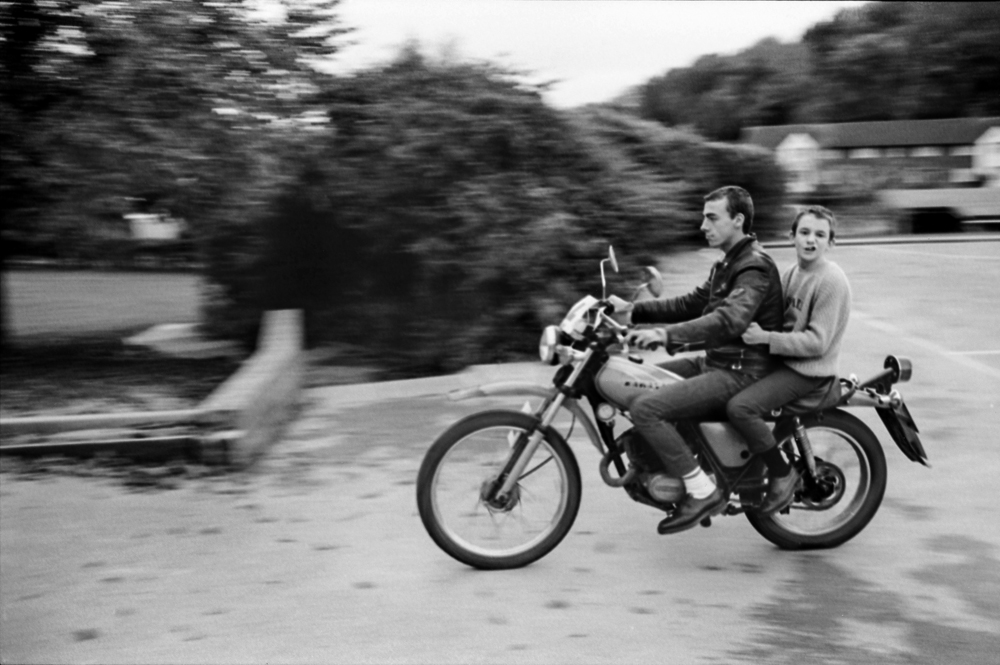 E Sheet 75 Neg 17. Skin. In Skins and Punks. Symond and Neville on Motorbike.jpg
