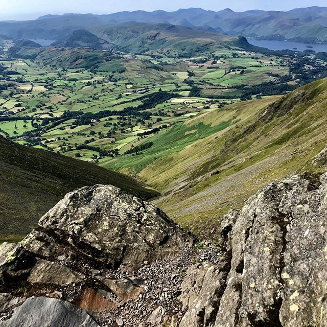 Traipsing up, down and all around Blencathra, Wordsworth's muse, on a perfect summer day. #lakedistrictwalks