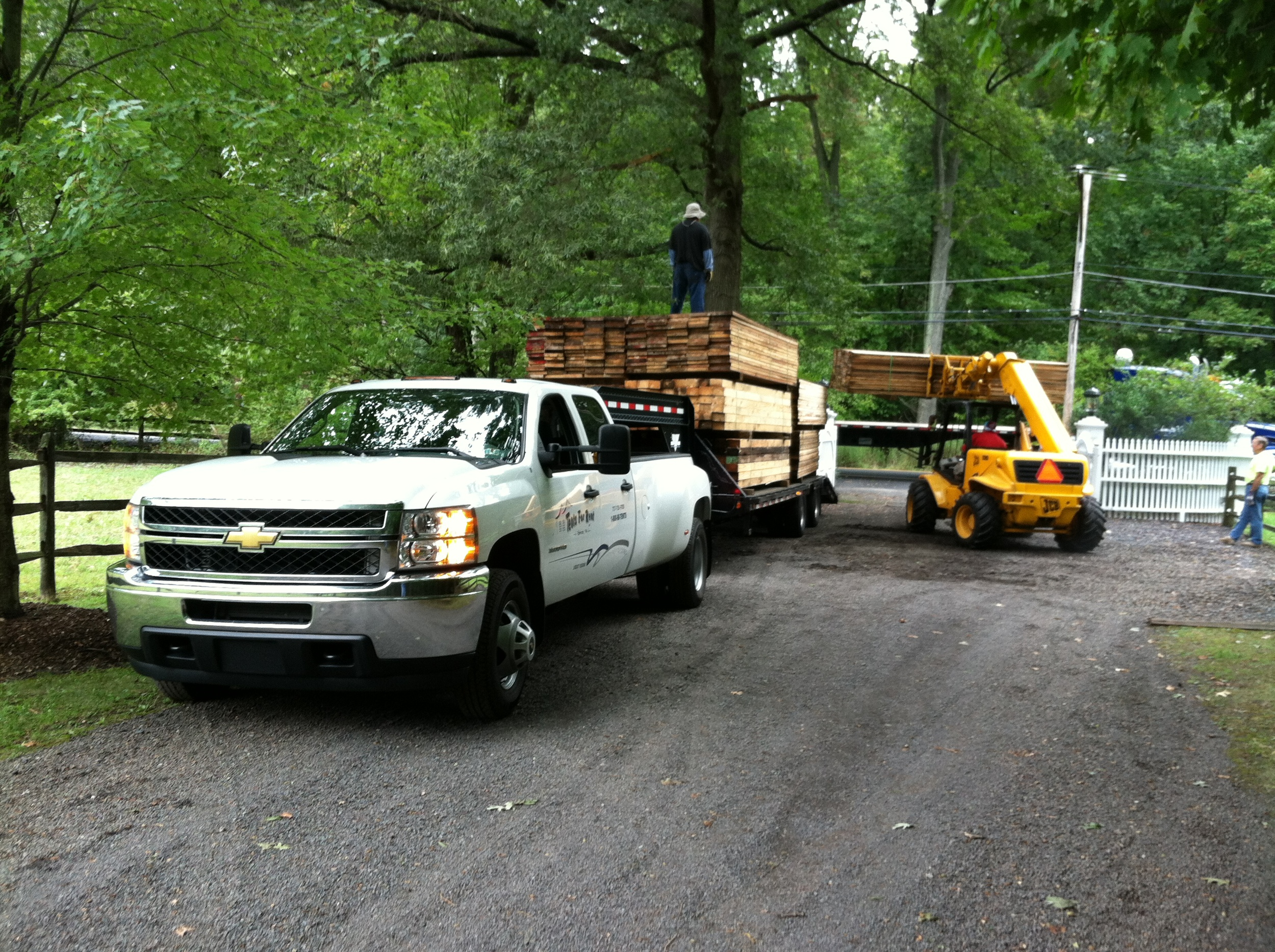 Large trucks could not access the job site