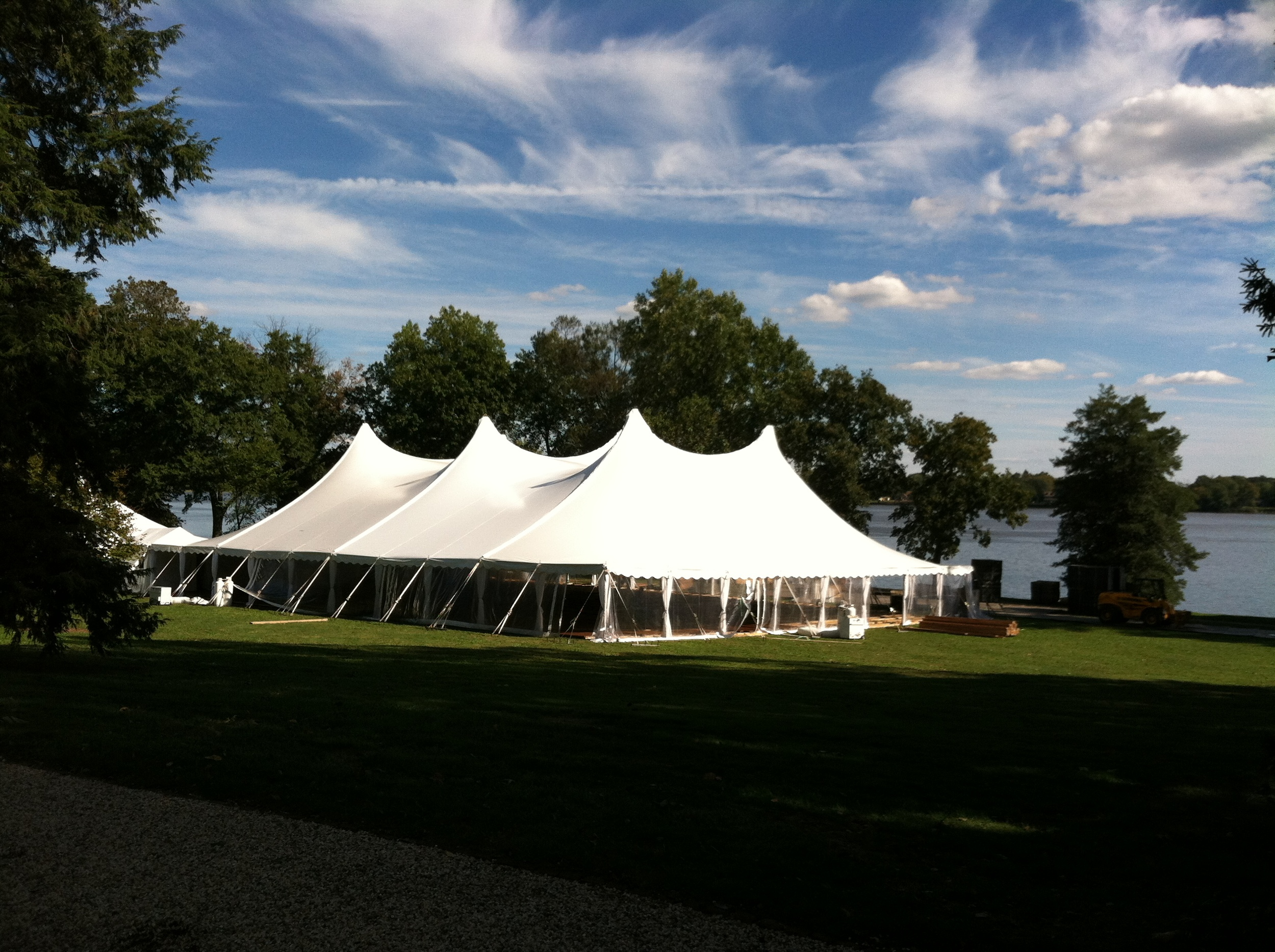Tent installation complete
