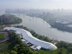 Karl's Event Services/Arena Americas installed the world's largest temporary structure