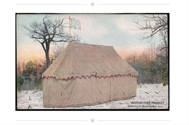 George Washington's tent/marquee/oval office