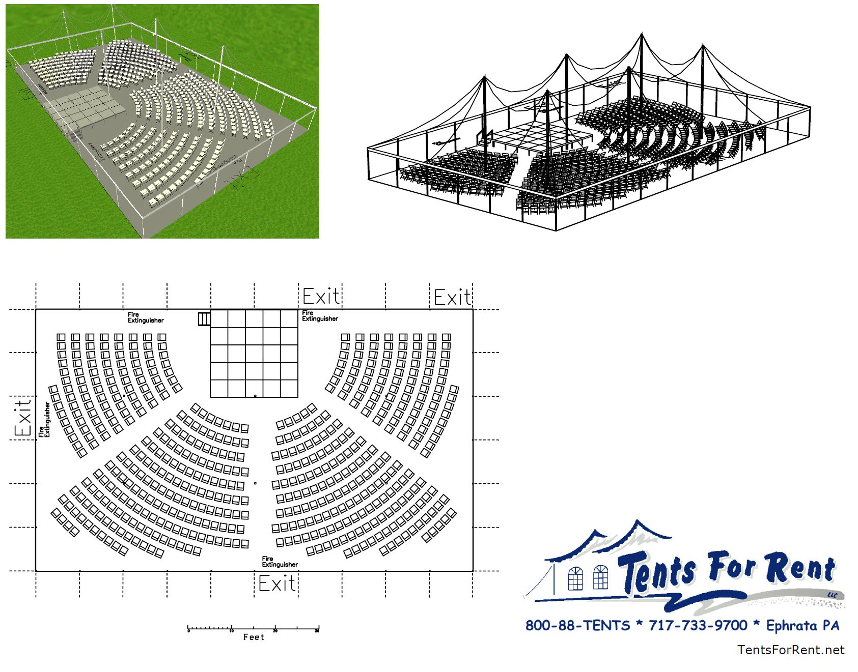 Outdoor event CAD drawing layout